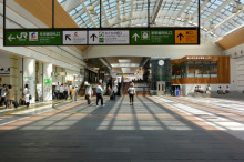 平成27年第一四半期、長野市の長野駅前の商業地の動向